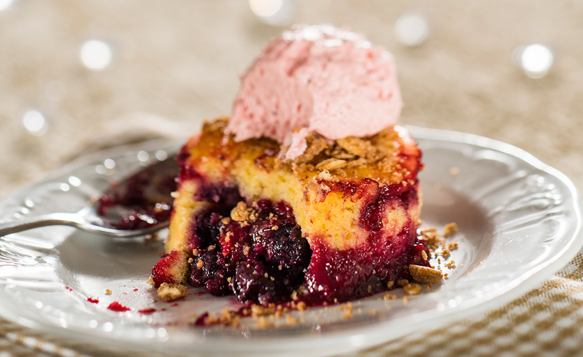 Warm Wild Berry Buckle from The Berry Basket