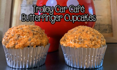 Trolley Car Cafe Butterfinger Cupcakes