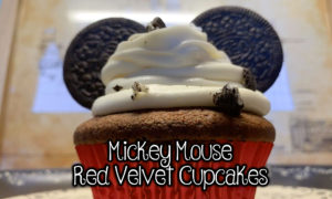 Mickey Mouse Red Velvet Cupcakes