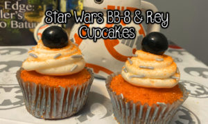 Star Wars BB-8 and Rey Cupcakes