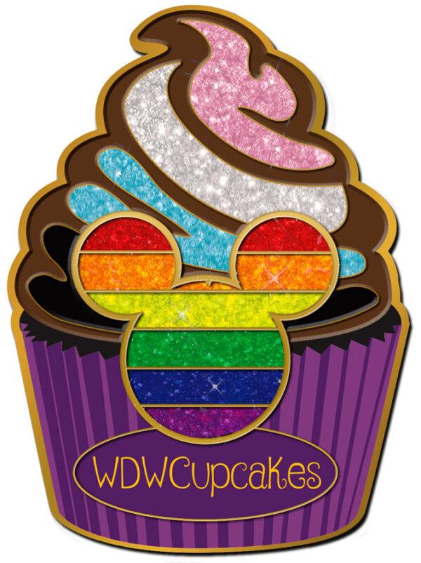 WDW Cupcakes Pride Pin